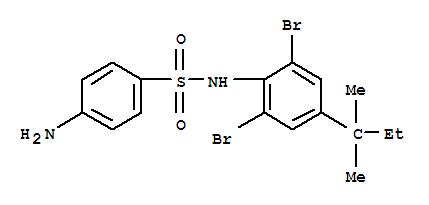 5414-81-3,Benzenesulfonamide,4-amino-N-[2,6-dibromo-4-(1,1-dimethylpropyl)phenyl]-,Sulfanilanilide,2',6'-dibromo-4'-tert-pentyl- (8CI); NSC 10628