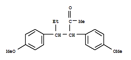5424-88-4,2-Hexanone,3,4-bis(4-methoxyphenyl)-,2-Hexanone,3,4-bis(p-methoxyphenyl)- (6CI); NSC 12508