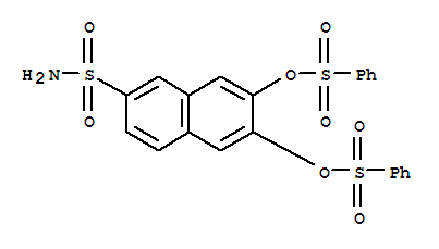 63217-38-9,2-Naphthalenesulfonamide,6,7-bis[(phenylsulfonyl)oxy]-,6,7-bis[(phenylsulphonyl)oxy]naphthalene-2-sulphonamide