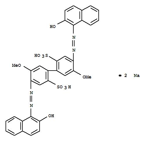 6428-81-5,[1,1'-Biphenyl]-2,2'-disulfonicacid, 4,4'-bis[2-(2-hydroxy-1-naphthalenyl)diazenyl]-5,5'-dimethoxy-, sodiumsalt (1:2),C.I. AcidRed 86, disodium salt (8CI); [1,1'-Biphenyl]-2,2'-disulfonic acid,4,4'-bis[(2-hydroxy-1-naphthalenyl)azo]-5,5'-dimethoxy-, disodium salt (9CI);Acid Red 86; C.I. 24500; C.I. Acid Red 86; Milling Red 6B