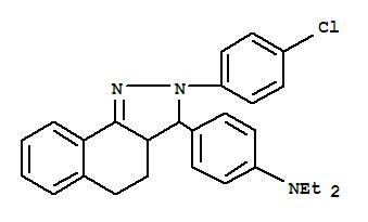 6506-36-1,Benzenamine,4-[2-(4-chlorophenyl)-3,3a,4,5-tetrahydro-2H-benz[g]indazol-3-yl]-N,N-diethyl-,2H-Benz[g]indazole,2-(p-chlorophenyl)-3-[p-(diethylamino)phenyl]-3,3a,4,5-tetrahydro- (7CI,8CI)