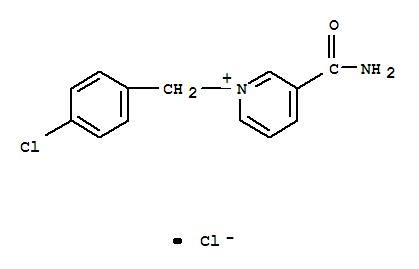 6951-52-6,Pyridinium,3-(aminocarbonyl)-1-[(4-chlorophenyl)methyl]-, chloride (1:1),3-Carbamoyl-1-(p-chlorobenzyl)pyridiniumchloride (7CI); Pyridinium, 3-(aminocarbonyl)-1-[(4-chlorophenyl)methyl]-,chloride (9CI); Pyridinium, 3-carbamoyl-1-(p-chlorobenzyl)-, chloride (8CI)