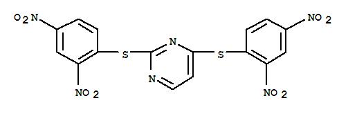 73768-66-8,Pyrimidine,2,4-bis[(2,4-dinitrophenyl)thio]-,NSC 302586