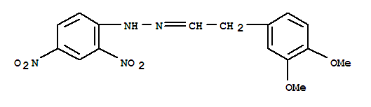 7509-47-9,Benzeneacetaldehyde,3,4-dimethoxy-, N-2-(2,4-dinitrophenyl)hydrazone,Benzeneacetaldehyde,3,4-dimethoxy-, (2,4-dinitrophenyl)hydrazone (9CI); NSC 407393