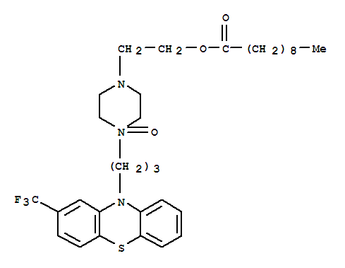 Molecular Structure of 76013-31-5 (Decanoic acid,2-[4-oxido-4-[3-[2-(trifluoromethyl)-10H-phenothiazin-10-yl]propyl]-1-piperazinyl]ethylester)