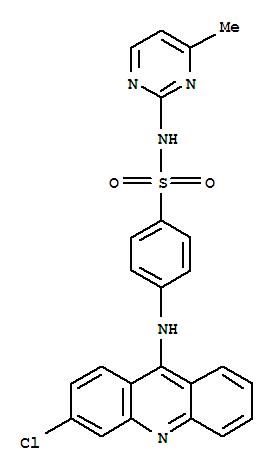 78356-84-0,Benzenesulfonamide,4-[(3-chloro-9-acridinyl)amino]-N-(4-methyl-2-pyrimidinyl)-,NSC 296245