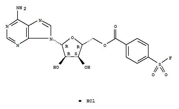 78859-42-4,Adenosine,5'-[4-(fluorosulfonyl)benzoate], monohydrochloride (9CI),5'-[p-(Fluorosulfonyl)benzoyl]adenosinehydrochloride