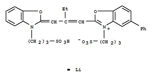 Benzoxazolium,5-phenyl-3-(3-sulfopropyl)-2-[2-[[3-(3-sulfopropyl)-2(3H)-benzoxazolylidene]methyl]-1-buten-1-yl]-,inner salt, lithium salt (1:1)