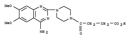 81719-06-4,1-Piperazinebutanoicacid, 4-(4-amino-6,7-dimethoxy-2-quinazolinyl)-g-oxo-,CP57609