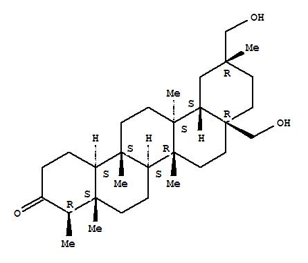 83692-08-4,24,25,26-Trinoroleanan-3-one,28,29-dihydroxy-5,9,13-trimethyl-, (4b,5b,8a,9b,10a,13a,14b,20a)- (9CI),D:A-Friedooleanan-3-one,28,29-dihydroxy-, (20a)-; 3(2H)-Picenone,eicosahydro-8a,11-bis(hydroxymethyl)-4,4a,6b,11,12b,14a-hexamethyl-,(4R,4aS,6aS,6bR,8aR,11R,12aS,12bS,14aS,14bS)-; Confertiflorol