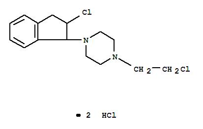 892-23-9,Piperazine,1-(2-chloro-2,3-dihydro-1H-inden-1-yl)-4-(2-chloroethyl)-, hydrochloride (1:2),Piperazine,1-(2-chloroethyl)-4-(2-chloro-1-indanyl)-, dihydrochloride (7CI,8CI); NSC 80563