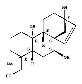 90851-47-1,17-Norkaur-15-ene-7,18-diol,13-methyl-, (4b,7b,8b,13b)- (9CI),1H-2,10a-Ethenophenanthrene,17-norkaur-15-ene-7,18-diol deriv.; Flavovirol