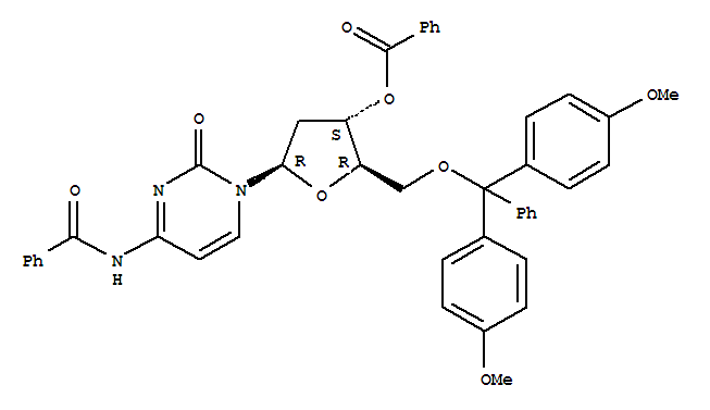 Cytidine,N-benzoyl-5'-O-[bis(4-methoxyphenyl)phenylmethyl]-2'-deoxy-, 3'-benzoate (9CI)