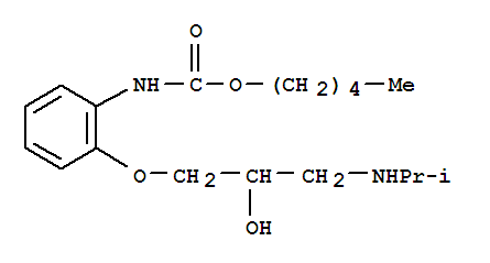 102417-17-4,Carbamic acid,[2-[2-hydroxy-3-[(1-methylethyl)amino]propoxy]phenyl]-, pentyl ester (9CI),