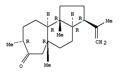 130756-34-2,Cyclohept[e]inden-7(1H)-one,dodecahydro-5a,8,10b-trimethyl-3-(1-methylethenyl)-, (3R,3aR,5aR,8R,10aR,10bR)-,Cyclohept[e]inden-7(1H)-one,dodecahydro-5a,8,10b-trimethyl-3-(1-methylethenyl)-, [3R-(3a,3ab,5aa,8b,10ab,10ba)]-; Valparone