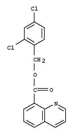 Molecular Structure of 134959-57-2 (8-Quinolinecarboxylicacid, (2,4-dichlorophenyl)methyl ester)