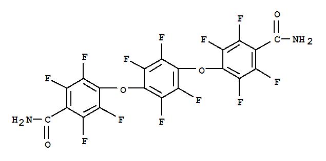 CAS NO:14796-02-2 Benzamide,4,4'-[(2,3,5,6-tetrafluoro-p-phenylene)dioxy]bis[2,3,5,6-tetrafluoro- (8CI) Molecular Structure