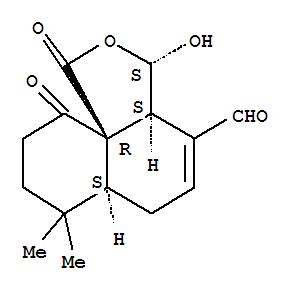 162666-36-6,1H-Naphtho[1,8a-c]furan-4-carboxaldehyde,3,3a,6,6a,7,8,9,10-octahydro-3-hydroxy-7,7-dimethyl-1,10-dioxo-,(3S,3aS,6aS,10aR)-,1H-Naphtho[1,8a-c]furan-4-carboxaldehyde,3,3a,6,6a,7,8,9,10-octahydro-3-hydroxy-7,7-dimethyl-1,10-dioxo-, [3S-(3a,3aa,6aa,10aS*)]-; (-)-Kuehneromycin A; Kuehneromycin A