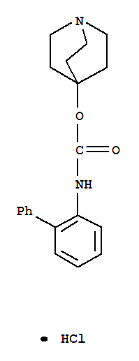 Molecular Structure of 171722-81-9 (Carbamic acid,N-[1,1'-biphenyl]-2-yl-, 1-azabicyclo[2.2.2]oct-4-yl ester, hydrochloride (1:1))