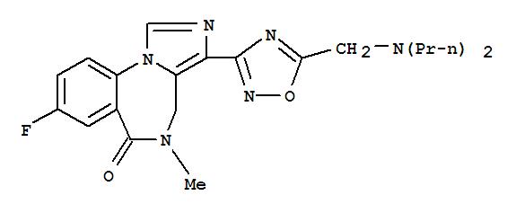 172407-17-9,6H-Imidazo[1,5-a][1,4]benzodiazepin-6-one,3-[5-[(dipropylamino)methyl]-1,2,4-oxadiazol-3-yl]-8-fluoro-4,5-dihydro-5-methyl-,Ro 48-6791