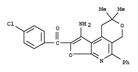 172985-32-9,Methanone,(1-amino-8,9-dihydro-8,8-dimethyl-5-phenyl-6H-furo[2,3-b]pyrano[4,3-d]pyridin-2-yl)(4-chlorophenyl)-,