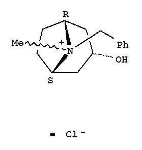17812-44-1,8-Azoniabicyclo[3.2.1]octane,3-hydroxy-8-methyl-8-(phenylmethyl)-, chloride, endo- (9CI),1aH,5aH-Tropanium, 8-benzyl-3a-hydroxy-, chloride (8CI); N-Benzyltropine chloride;N-Benzyltropinium chloride; NSC 72859