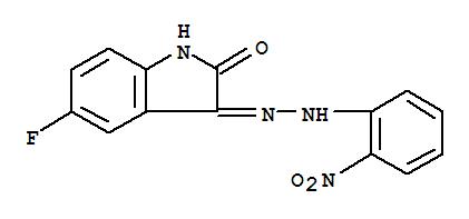 21303-40-2,1H-Indole-2,3-dione,5-fluoro-, 3-[2-(2-nitrophenyl)hydrazone],Indole-2,3-dione,5-fluoro-, 3-[(o-nitrophenyl)hydrazone] (8CI); NSC 121914