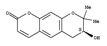 (3s)-3-hydroxy-2,2-dimethyl-3,4-dihydropyrano[3,2-g]chromen-8-one