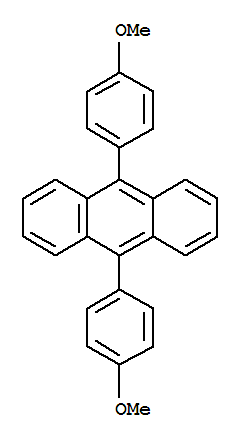 Molecular Structure of 24672-76-2 (Anthracene,9,10-bis(4-methoxyphenyl)-)