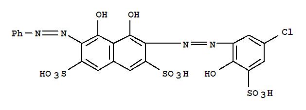 26069-46-5,2,7-Naphthalenedisulfonicacid,3-[2-(5-chloro-2-hydroxy-3-sulfophenyl)diazenyl]-4,5-dihydroxy-6-(2-phenyldiazenyl)-,2,7-Naphthalenedisulfonicacid, 3-[(5-chloro-2-hydroxy-3-sulfophenyl)azo]-4,5-dihydroxy-6-(phenylazo)-(8CI,9CI); Sulfochlorophenol B