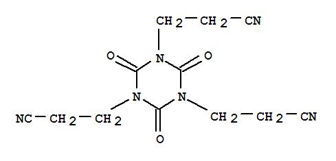 2904-28-1,1,3,5-Triazine-1,3,5(2H,4H,6H)-tripropanenitrile,2,4,6-trioxo-,s-Triazine-1,3,5(2H,4H,6H)-tripropionitrile,2,4,6-trioxo- (6CI,7CI,8CI); 1,3,5-Tris(2-cyanoethyl)isocyanuric acid; NSC11695