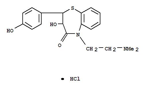 40602-08-2,1,5-Benzothiazepin-4(5H)-one,5-[2-(dimethylamino)ethyl]-2,3-dihydro-3-hydroxy-2-(4-hydroxyphenyl)-,hydrochloride (1:1),1,5-Benzothiazepin-4(5H)-one,5-[2-(dimethylamino)ethyl]-2,3-dihydro-3-hydroxy-2-(4-hydroxyphenyl)-,monohydrochloride (9CI)