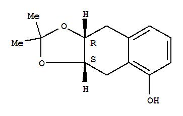 52187-19-6,Naphtho[2,3-d]-1,3-dioxol-5-ol,3a,4,9,9a-tetrahydro-2,2-dimethyl-, (3aR,9aS)-rel-,Naphtho[2,3-d]-1,3-dioxol-5-ol,3a,4,9,9a-tetrahydro-2,2-dimethyl-, cis-; cis-5,6,7,8-Tetrahydro-1,6,7-naphthalenetriolacetonide