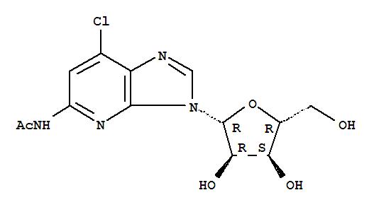 56707-82-5,Acetamide,N-(7-chloro-3-b-D-ribofuranosyl-3H-imidazo[4,5-b]pyridin-5-yl)-,3H-Imidazo[4,5-b]pyridine,acetamide deriv.; NSC 244415