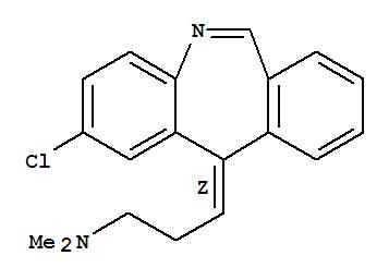 Molecular Structure of 58441-92-2 (1-Propanamine,3-(2-chloro-11H-dibenz[b,e]azepin-11-ylidene)-N,N-dimethyl-, (Z)- (9CI))