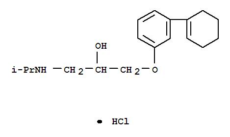 59333-96-9,2-Propanol,1-[3-(1-cyclohexen-1-yl)phenoxy]-3-[(1-methylethyl)amino]-, hydrochloride (1:1),2-Propanol,1-[3-(1-cyclohexen-1-yl)phenoxy]-3-[(1-methylethyl)amino]-, hydrochloride(9CI); MG 8861
