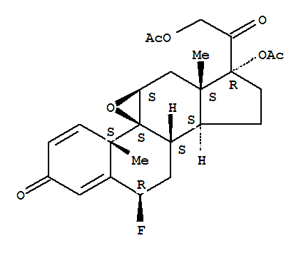 60864-45-1,Pregna-1,4-diene-3,20-dione,17,21-bis(acetyloxy)-9,11-epoxy-6-fluoro-, (6b,9b,11b)- (9CI),9,11-Epoxy-9H-cyclopenta[a]phenanthrene,pregna-1,4-diene-3,20-dione deriv.