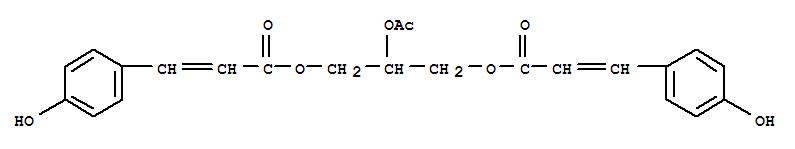 65556-57-2,2-Propenoic acid,3-(4-hydroxyphenyl)-, 2-(acetyloxy)-1,3-propanediyl ester (9CI),LasiocarpinA