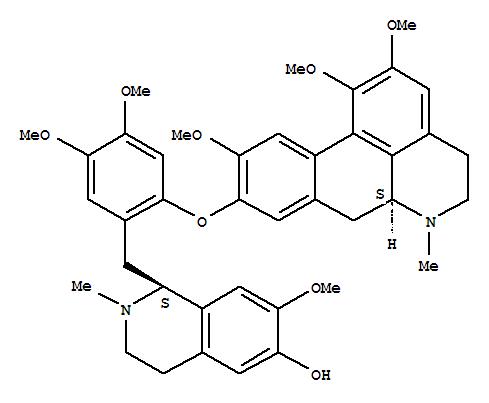 66408-23-9,6-Isoquinolinol,1-[[4,5-dimethoxy-2-[(5,6,6a,7-tetrahydro-1,2,10-trimethoxy-6-methyl-4H-dibenzo[de,g]quinolin-9-yl)oxy]phenyl]methyl]-1,2,3,4-tetrahydro-7-methoxy-2-methyl-,[S-(R*,R*)]- (9CI),4H-Dibenzo[de,g]quinoline,6-isoquinolinol deriv.; Thalilutidine