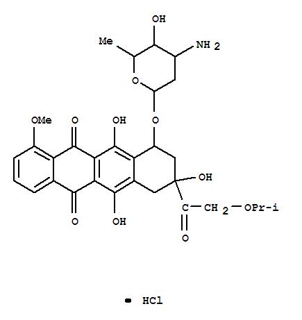 66678-34-0,5,12-Naphthacenedione,10-[(3-amino-2,3,6-trideoxy-a-L-lyxo-hexopyranosyl)oxy]-7,8,9,10-tetrahydro-6,8,11-trihydroxy-1-methoxy-8-[(1-methylethoxy)acetyl]-,hydrochloride, (8S-cis)- (9CI),NSC280412