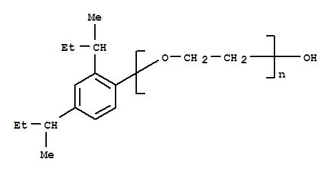 Molecular Structure of 67970-22-3 (Poly(oxy-1,2-ethanediyl),a-[2,4-bis(1-methylpropyl)phenyl]-w-hydroxy-)