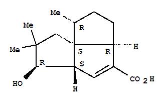 69394-19-0,Cyclopenta[c]pentalene-4-carboxylicacid, 1,2,3,3a,5a,6,7,8-octahydro-6-hydroxy-1,7,7-trimethyl-,(1R,3aR,5aS,6R,8aS)- (9CI),Cyclopenta[c]pentalene-4-carboxylicacid, 1,2,3,3a,5a,6,7,8-octahydro-6-hydroxy-1,7,7-trimethyl-, [1R-(1a,3aa,5ab,6b,8aS*)]-; Pentalenic acid