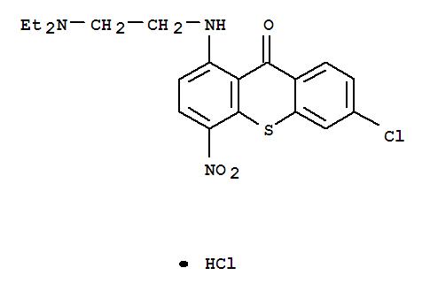 6970-32-7,9H-Thioxanthen-9-one,6-chloro-1-[[2-(diethylamino)ethyl]amino]-4-nitro-, hydrochloride (1:1),9H-Thioxanthen-9-one,6-chloro-1-[[2-(diethylamino)ethyl]amino]-4-nitro-, monohydrochloride (9CI);NSC 41140
