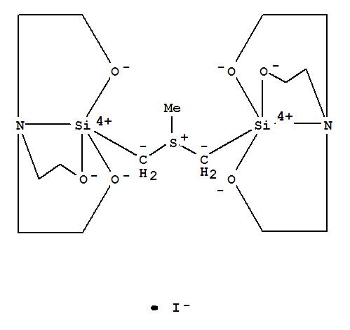 70199-26-7,Silicon(1+), [m-[(methylsulfoniumylidene)bis(methylene)]]bis[[2,2',2''-nitrilotris[ethanolato]](3-)-N,O,O',O'']di-,iodide (9CI),Ethanol,2,2',2''-nitrilotris-, silicon complex; Sulfonium, trimethyl-, silicon complex