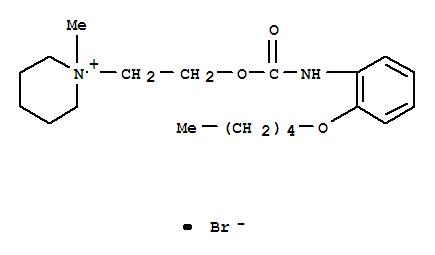 Molecular Structure of 70939-51-4 (Piperidinium,1-methyl-1-[2-[[[[2-(pentyloxy)phenyl]amino]carbonyl]oxy]ethyl]-, bromide (1:1))