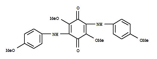 7180-88-3,2,5-Cyclohexadiene-1,4-dione,2,5-dimethoxy-3,6-bis[(4-methoxyphenyl)amino]-,p-Benzoquinone,2,5-di-p-anisidino-3,6-dimethoxy- (7CI,8CI); NSC 95137