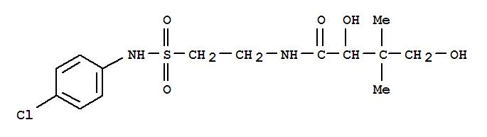 7562-46-1,Butanamide,N-[2-[[(4-chlorophenyl)amino]sulfonyl]ethyl]-2-hydroxy-3-(hydroxymethyl)-3-methyl-,Butyramide,N-[2-[(p-chlorophenyl)sulfamoyl]ethyl]-2,4-dihydroxy-3,3-dimethyl- (8CI); NSC23822
