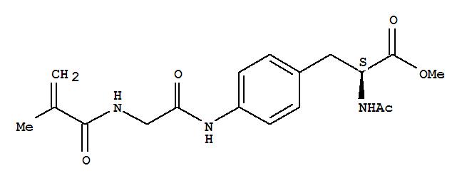 76311-21-2,L-Phenylalanine,N-acetyl-4-[[[(2-methyl-1-oxo-2-propenyl)amino]acetyl]amino]-, methyl ester(9CI),NSC 347355