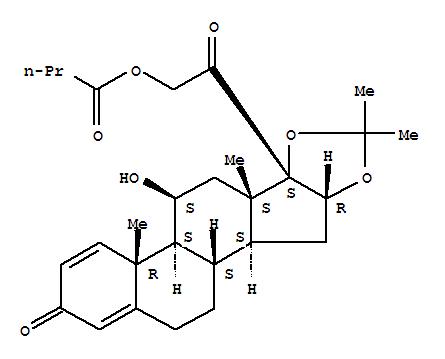 78806-60-7,Pregna-1,4-diene-3,20-dione,11-hydroxy-16,17-[(1-methylethylidene)bis(oxy)]-21-(1-oxobutoxy)-, (11b,16a)- (9CI),1H-Naphth[2',1':4,5]indeno[1,2-d][1,3]dioxole,pregna-1,4-diene-3,20-dione deriv.
