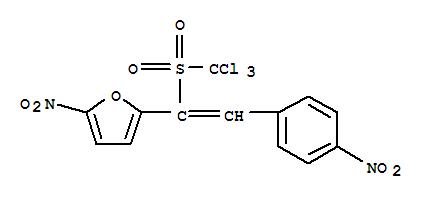 80733-64-8,Furan,2-nitro-5-[2-(4-nitrophenyl)-1-[(trichloromethyl)sulfonyl]ethenyl]-,NSC 291061
